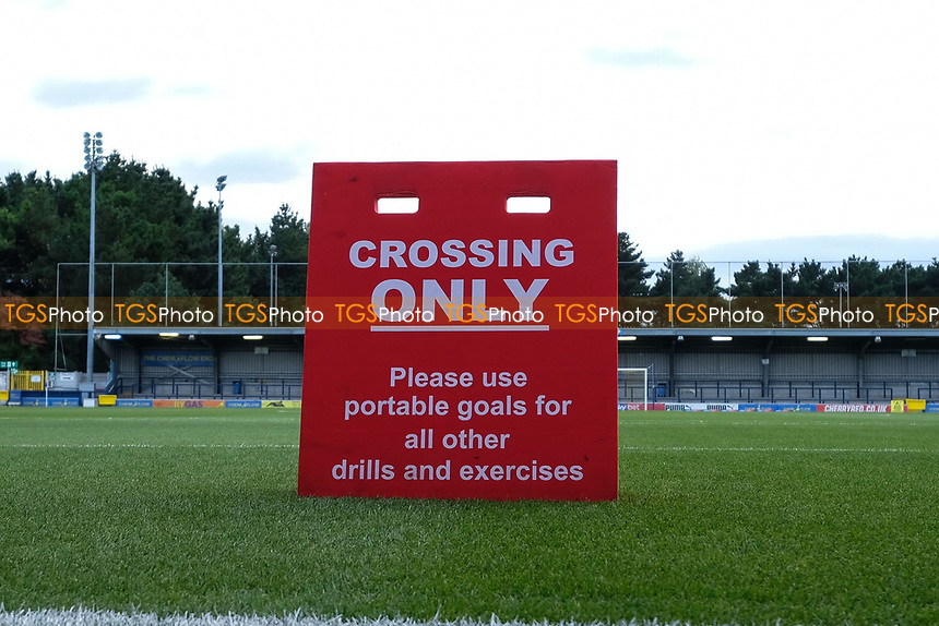 Crossing only sign ahead of AFC Wimbledon vs Bradford City, Sky Bet EFL League 1 Football at the Cherry Red Records Stadium on 2nd October 2018