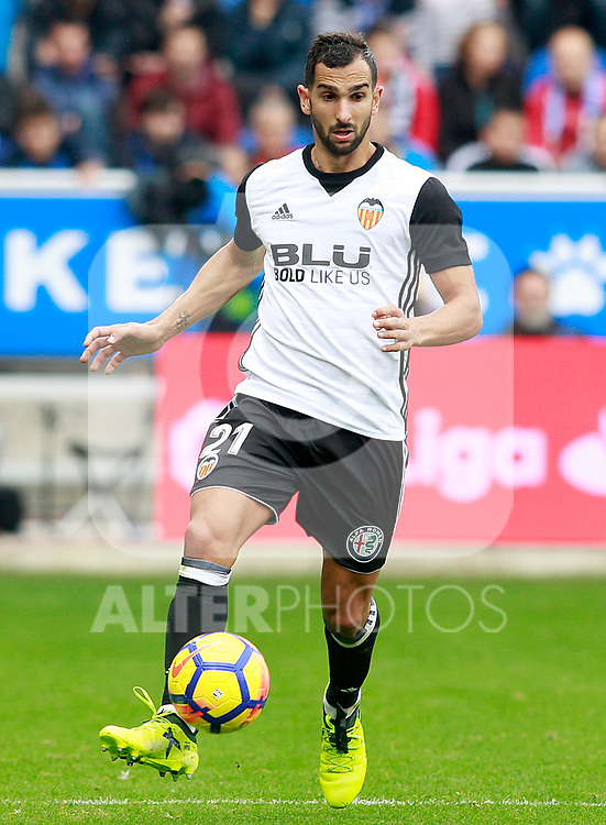 Valencia CF's Martin Montoya during La Liga match. October 28,2017. (ALTERPHOTOS/Acero)