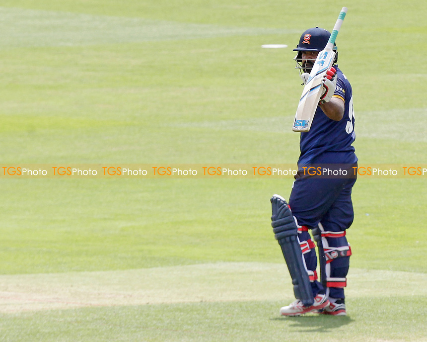 Ashar Zaidi celebrates scoring fifty runs whilst batting during Essex CCC 2nd XI vs Glamorgan CCC 2nd XI, Second XI T20 Cricket at the Essex County Ground on 23rd May 2016