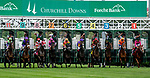 LOUISVILLE, KY - MAY 04: The field breaks for the Edgewood an undercard race on Kentucky Oaks Day at Churchill Downs on May 4, 2018 in Louisville, Kentucky. (Photo by Dan Heary/Eclipse Sportswire/Getty Images)