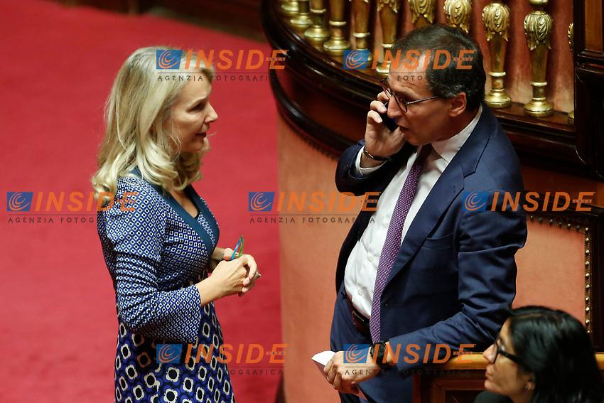 Julia Unterberger and Vincenzo Boccia<br /> Rome September 10th 2019. Senate. Discussion and Trust vote at the new Government. <br /> Foto  Samantha Zucchi Insidefoto
