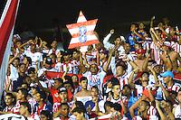 BARRANQUILLA- COLOMBIA -15-06-2016: Hinchas de Atletico Junior, animan a su equipo durante partido de ida de la final entre Atletico Junior y Deportivo Independiente Medellin, de la Liga Aguila I-2016, jugado en el estadio Metropolitano Roberto Melendez de la ciudad de Barranquilla. / Fans of Atletico Junior, cheer for their team during a match for the first leg of the finals, between Atletico Junior and Deportivo Independiente Medellin, of the Liga Aguila I-2016 at the Metropolitano Roberto Melendez Stadium in Barranquilla city, Photo: VizzorImage  / Alfonso Cervantes / Cont.
