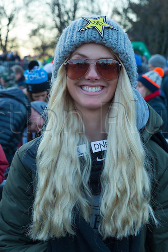 27.02.2016. Toyen, Big Jump Oslo, Norway.  Red Bull X Games Oslo 2016. Ladies Ski Big Air Final. Silje Norendal of Norway attends  the Ladies Ski Big Air Final at the Red Bull X Games Oslo 2016 in Toyen Big Jump  Oslo, Norway.
