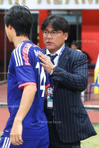 Makoto Teguramori (JPN), MARCH 29, 2015 - Football / Soccer : AFC U-23 Championship 2016 Qualification Group I match between U-22 Japan 2-0 U-22 Vietnam at Shah Alam Stadium in Shah Alam, Malaysia. (Photo by Sho Tamura/AFLO SPORT)
