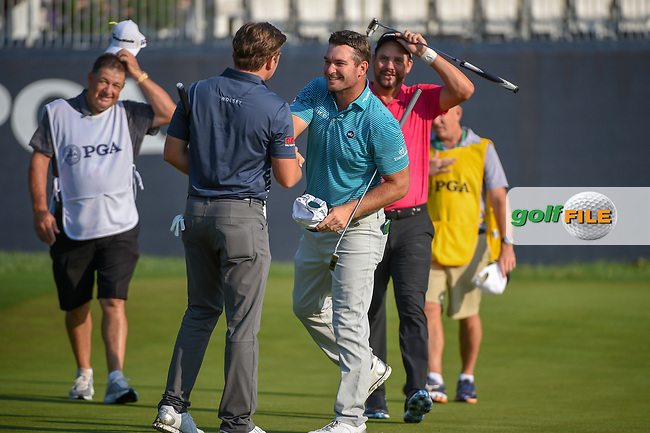 Ryan Fox (NZL) shakes hands following 2nd round of the 100th PGA Championship at Bellerive Country Club, St. Louis, Missouri. 8/11/2018.<br /> Picture: Golffile | Ken Murray<br /> <br /> All photo usage must carry mandatory copyright credit (© Golffile | Ken Murray)