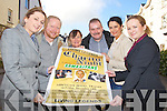 Pictured at the launch of a Music and Comedy night in aid of the Samaritans which will take place in the Abbeygate hotel on the 14th of December, from Left Andrea McEnery, Chris O'Donoghue, Director Kerry Branch Samaritans, Anne O'Keeffe, Ted Cronin, Deirdre Falvey and Collette Nolan.