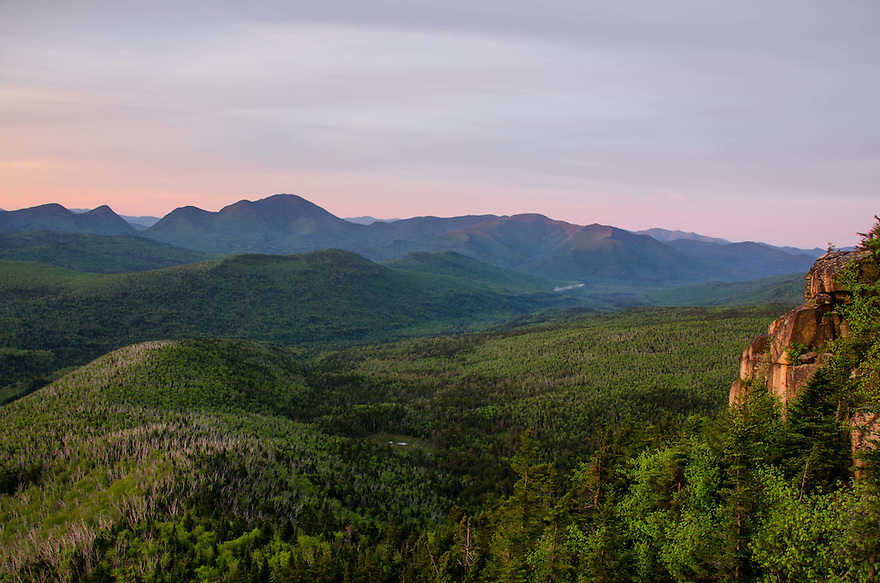 Dawn comes to Mt. Carrigain and the Pemigewasset Wilderness.