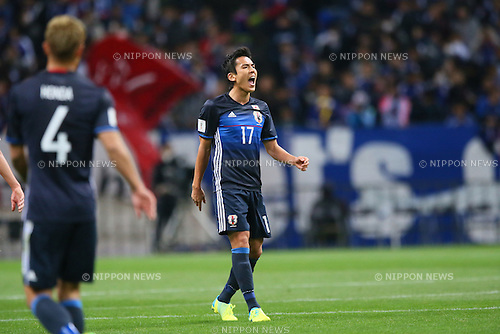 Makoto Hasebe (JPN), MARCH 29, 2016 - Football / Soccer : FIFA World Cup Russia 2018 Asian Qualifier Second Round Group E match between Japan 5-0 Syria at Saitama Stadium 2002, Saitama, Japan. (Photo by YUTAKA/AFLO SPORT)
