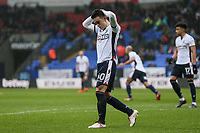 Bolton Wanderers' Zach Clough rues a near miss<br /> <br /> Photographer Andrew Kearns/CameraSport<br /> <br /> The EFL Sky Bet Championship - Bolton Wanderers v Fulham - Saturday 10th February 2018 - Macron Stadium - Bolton<br /> <br /> World Copyright &copy; 2018 CameraSport. All rights reserved. 43 Linden Ave. Countesthorpe. Leicester. England. LE8 5PG - Tel: +44 (0) 116 277 4147 - admin@camerasport.com - www.camerasport.com