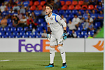 Leandro Chichizola of Getafe CF during UEFA Europa League match between Getafe CF and Trabzonspor at Coliseum Alfonso Perez in Getafe, Spain. September 19, 2019. (ALTERPHOTOS/A. Perez Meca)