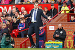 West Ham manager, Slaven Bilic reacts during the Emirates FA Cup match at Old Trafford. Photo credit should read: Philip Oldham/Sportimage