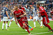 30th September 2017, The Hawthorns, West Bromwich, England; EPL Premier League football, West Bromwich Albion versus Watford; Richarlison of Watford and Christian Kabasele of Watford celebrate the equaliser in the last seconds of the game
