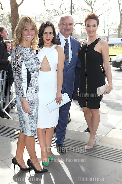 Jacquie Beltrao, Nazaneen Ghaffar, Eamonn Holmes and Isabel Webster arriving for the 2015 TRIC Awards, at the Grosvenor House Hotel, London. 10/03/2015 Picture by: Alexandra Glen / Featureflash