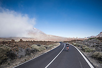 Team Trek-Segafredo winter training camp with André Cardoso (POR/Trek-Segafredo) up the Tiede Volcano in Tenerife<br /> <br /> january 2017, Tenerife/Spain