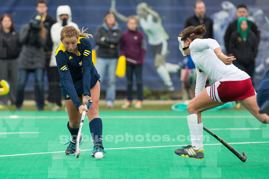 The University of Michigan field hockey team beat Indiana University, 4-3, at Ocker Field in Ann Arbor, Mich., on Senior Day, November 3, 2013.