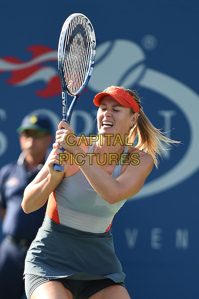 FLUSHING NY- AUGUST 27: Maria Sharapova Vs Alexandra Dulgheru on Arthur Ashe stadium at the USTA Billie Jean King National Tennis Center on August 27, 2014 inFlushing Queens. <br /> CAP/MPI/mpi04<br /> &copy;mpi04/MediaPunch/Capital Pictures