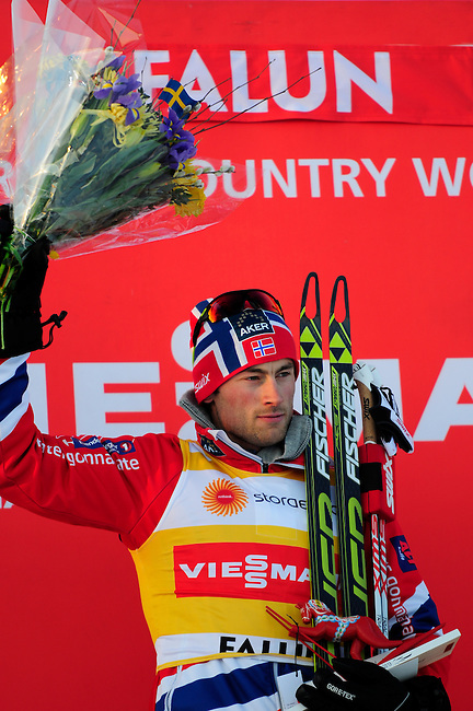 FALUN, SWEDEN - March 22: Petter jr. Northug of Norway (NOR) wins the Viessmann Men Prologue 3,3 km F ?King of Mördarbacken? at the FIS Cross country World Cup Final on March 22, 2013 in Falun, Sweden. (Photo by Dirk Markgraf)