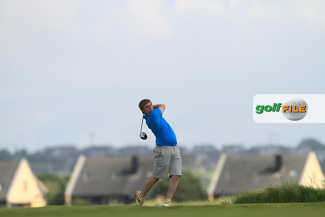 Gary Collins (Rosslare) on the 11th tee during Round 5 of the Irish Amateur Close Championship at Seapoint Golf Club on Tuesday 10th June 2014.<br /> Picture:  Thos Caffrey / www.golffile.ie