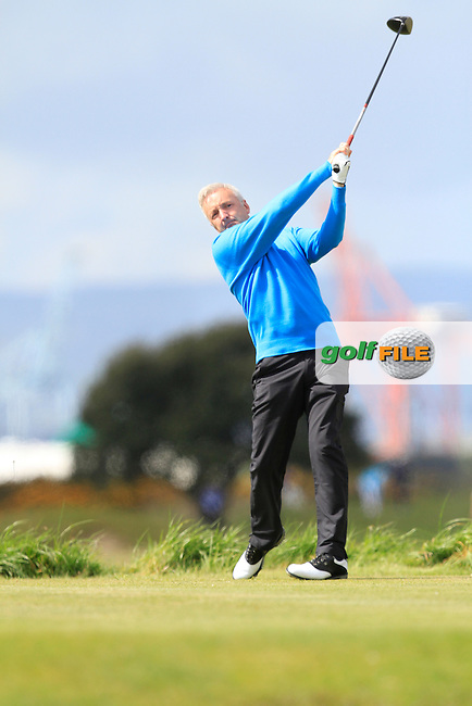 Michael Sinclair (Knock) on the 3rd tee during Round 1 of the Irish Amateur Open Championship at Royal Dublin on Thursday 7th May 2015.<br /> Picture:  Thos Caffrey / www.golffile.ie