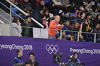 OLYMPIC GAMES: PYEONGCHANG: 16-02-2018, Gangneung Oval, Long Track, 5.000m Ladies, Matthias Große, ©photo Martin de Jong