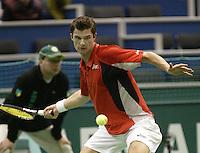 21-2-06, Netherlands, tennis, Rotterdam, ABNAMROWTT, Antal van der Duim in action against Calatrava