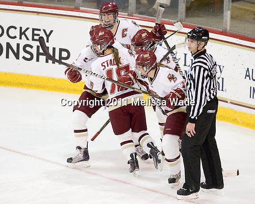 The Boston College Eagles defeated the visiting University of Minnesota Golden Gophers 4-1 in their NCAA Regional matchup on Saturday, March 12, 2011, at Conte Forum in Chestnut Hill, Massachusetts.