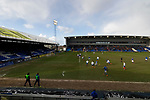 The view from The George Hill Main Stand.Oldham v Portsmouth League 1