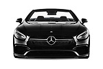 Car photography straight front view of a 2017 Mercedes Benz SL-Class AMG-63 2 Door Convertible Front View