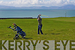 Michael Edge, Ardfert, chipping onto the 9th in The Spring League at Ballyheigue Golf Club on Sunday morning..