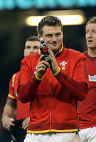 Dan Biggar of Wales thanks home supporters after the RBS 6 Nations Championship rugby game between Wales and Scotland at the Principality Stadium, Cardiff, Wales, UK Saturday 13 February 2016