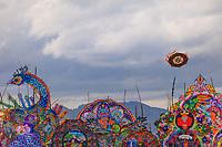 Guatemala,Sumpango, festival of barriletes gigantes , ( kites)  in the all saints day,