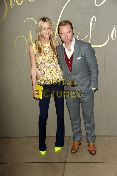 LONDON, ENGLAND - NOVEMBER 3: Storm Uechtritz and Ronan Keating attends the Burberry Festive Film Premiere at Burberry Regent Street on November 3, 2015 in London, England.<br /> CAP/CJ<br /> &copy;CJ/Capital Pictures