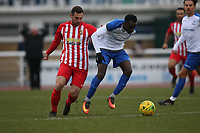 Muhammadu Faal of Enfield during Enfield Town vs Folkestone Invicta, BetVictor League Premier Division Football at the Queen Elizabeth II Stadium on 16th November 2019