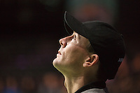 Rotterdam, The Netherlands, Februari 8, 2016,  ABNAMROWTT, linesman looking at hawkeye<br /> Photo: Tennisimages/Henk Koster
