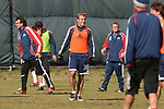 16 November 2007: Taylor Twellman (20). The New England Revolution practiced at the RFK Stadium Auxiliary Field in Washington, DC two days before playing in MLS Cup 2007, Major League Soccer's championship game.