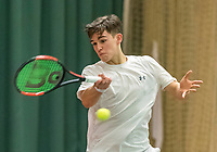 Wateringen, The Netherlands, March 16, 2018,  De Rhijenhof , NOJK 14/18 years, Nat. Junior Tennis Champ.  Stijn Pel (NED)<br />  Photo: www.tennisimages.com/Henk Koster