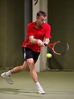 March 7, 2015, Netherlands, Hilversum, Tulip Tennis Center, NOVK, Dennis Bank (NED)<br /> Photo: Tennisimages/Henk Koster