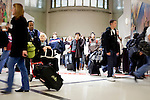 Passengers who recently landed at Hartsfield-Jackson Atlanta International Airport in Atlanta, Georgia head to luggage claims January 6, 2009.
