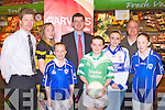 LAUNCH: Launching the Garvey Group Ladies U14 County League at Garvey's Super-Valu, Tralee on Monday l-r: Tom Garvey (Garvey's), Caitriona Collins (Austin Stacks), Sophie Duggan (Kerins O'Rahillys), Jim Garvey (CEO Garvey Group), Ciara Moriarty (Na Gaeil), Aoibhinn O'Connor (Castleisland Desmonds), Paddy White (Fixtures Chairman) and Caoimhe Tobin (Kerins O'Rahillys)...