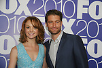 Jayma Mays and Matthew Morrison (ATWT) star in GLEE as he attends the FOX 2010 Programming Presentation (Upfronts) Post-Party on May 18, 2010 at Wollman Rink in Central Park, New York City, New York.  (Photo by Sue Coflin/Max Photos)
