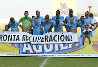 MONTERIA - COLOMBIA -25 -02-2015: Los jugadores de Jaguares FC posan para una foto durante partido entre Jaguares FC y Once Caldas por la fecha 6 de la Liga Aguila I-2015, jugado en el estadio Municipal de Monteria de la ciudad de Monteria.  / The players of Jaguares FC pose for a photo during a match between Jaguares FC and Once Caldas for the  date 6 of the Liga Aguila I-2015 at the Municipal de Monteria Stadium in Monteria city, Photo: VizzorImage  / Jose Perdomo / Cont.