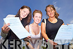 Clodagh Foley, Anna Creagh and Emily Quirke from Mercy Mounthawk sat their first Leaving Cert. exam on Wednesay morning.