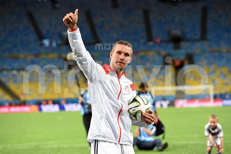FUSSBALL WM 2014                       FINALE   Deutschland - Argentinien     13.07.2014 DEUTSCHLAND FEIERT DEN WM TITEL: Lukas Podolski