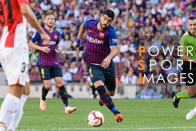 Luis Suarez of FC Barcelona in action during their La Liga  2018-19 match between Barcelona and Athletic Bilbao at Camp Nou Stadium on September 29, 2018 in Barcelpona, Spain. Photo by Vicens Gimenez / Power Sport Images