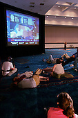 Ft. Lauderdale, Florida.USA.November 2, 2004..Florida Democrats gather to watch the election returns in a convention center.
