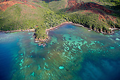 Récif de corail, baie de Ouinné, côte oubliée, Nouvelle-Calédonie