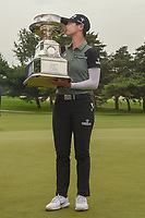 Sung Hyun Park (KOR) kisses the trophy after winning the  2018 KPMG Women's PGA Championship, Kemper Lakes Golf Club, at Kildeer, Illinois, USA. 7/1/2018.<br /> Picture: Golffile | Ken Murray<br /> <br /> All photo usage must carry mandatory copyright credit (&copy; Golffile | Ken Murray)
