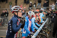Katie Kompton (USA) at the race start<br /> <br /> Women's Race<br /> UCI 2017 Cyclocross World Championships<br /> <br /> january 2017, Bieles/Luxemburg