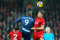 Manchester United's Romelu Lukaku battles with Liverpool's Dejan Lovren<br /> <br /> Photographer AlexDodd/CameraSport<br /> <br /> The Premier League - Liverpool v Manchester United - Sunday 16th December 2018 - Anfield - Liverpool<br /> <br /> World Copyright &copy; 2018 CameraSport. All rights reserved. 43 Linden Ave. Countesthorpe. Leicester. England. LE8 5PG - Tel: +44 (0) 116 277 4147 - admin@camerasport.com - www.camerasport.com