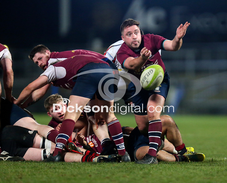 Tuesday 7th January 2020 | MMW Junior Cup Final<br /> <br /> Nick Finlay during the Millar McCall Wylie Junior Cup Final between Armagh 2s and Enniskillen at Kingspan Stadium, Ravenhill Park, Belfast, Northern Ireland. Photo by John Dickson / DICKSONDIGITAL